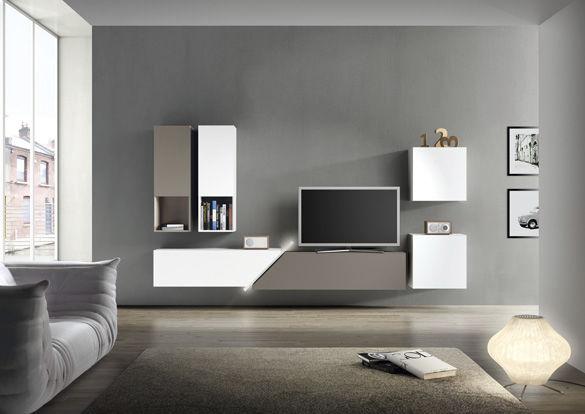 Moderne wohnwand  Moderne Wohnwand / Holz / lackiertes Holz - FREE FAST KUBE - Le ...