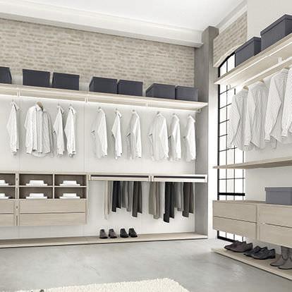 Begehbarer kleiderschrank design  Begehbarer -Kleiderschrank / Eck / Holz - MULTIPLO - Le Monde Wood