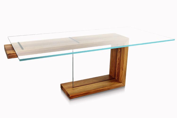 ... Moderner Esstisch / Glas / Rechteckig EQUILIBRIO By Antonio Benedetti U0026 Giuseppe  Pruneri Bdm S.r.l.