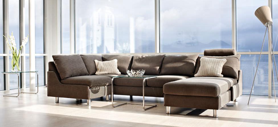 Modulierbares Sofa Modern Stoff Leder E200 Ekornes Videos