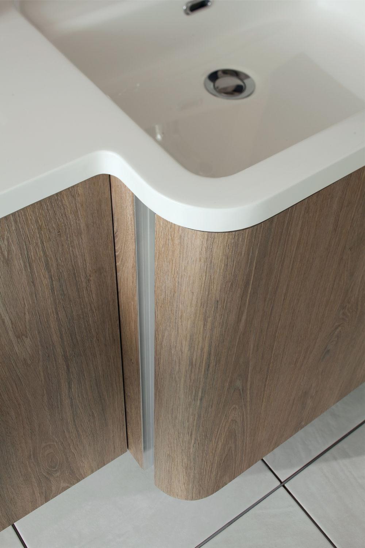 Waschtischunterschrank holz hängend  Hängend-Waschtischunterschrank / Holz / modern / mit Spiegel ...
