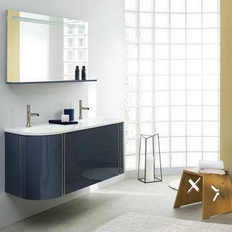 Waschtischunterschrank hängend  Doppelter Waschtischunterschrank / hängend / Holz / modern - BAILA ...