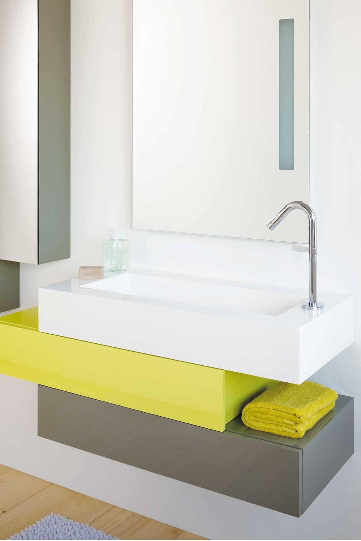 Waschtischunterschrank design  Hängend-Waschtischunterschrank / Holzfurnier / Designer / mit ...