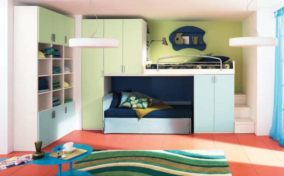 Etagenbett Für Kinder Mit Stauraum : Etagenbett modern mit stauraum für kinder jungen und mächen