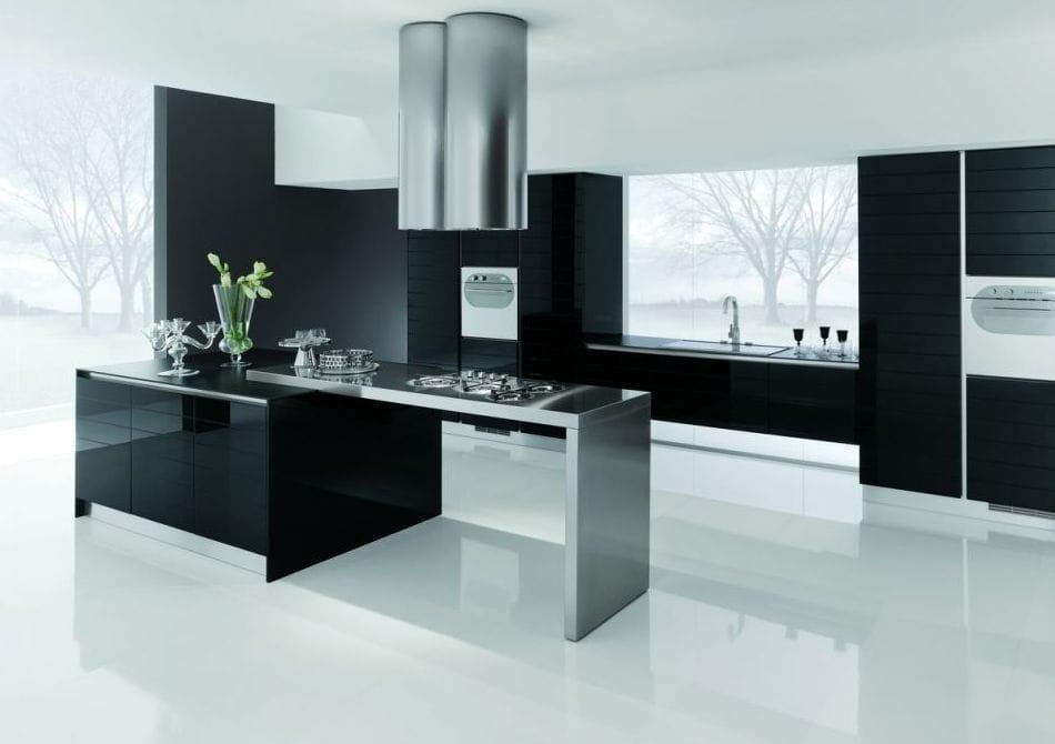 Moderne Küche / Edelstahl / Laminat / Kochinsel - DOLCEVITA TRENDY ... | {Moderne küchen mit halbinsel 14}