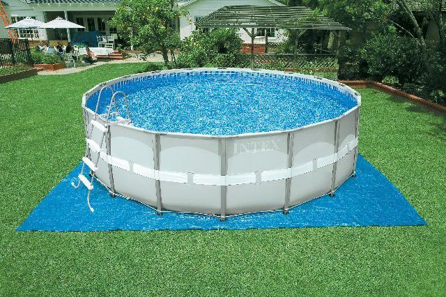... Schwimmbecken Zum Aufstellen / Stahl / Platten / Außenbereich 28326  INTEX ...
