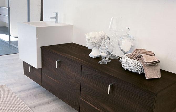 Hängend-Waschtischunterschrank / Holz / modern - SOUND: FUNKY 01 ... | {Waschtischunterschrank holz hängend 73}