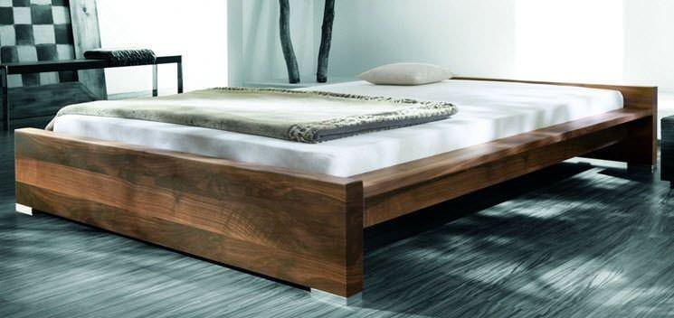 Standardbett / doppelt / modern / Holz - ES - ZACK-Design