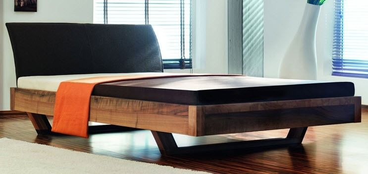 Standardbett / doppelt / modern / Holz - Q BASIC - ZACK-Design