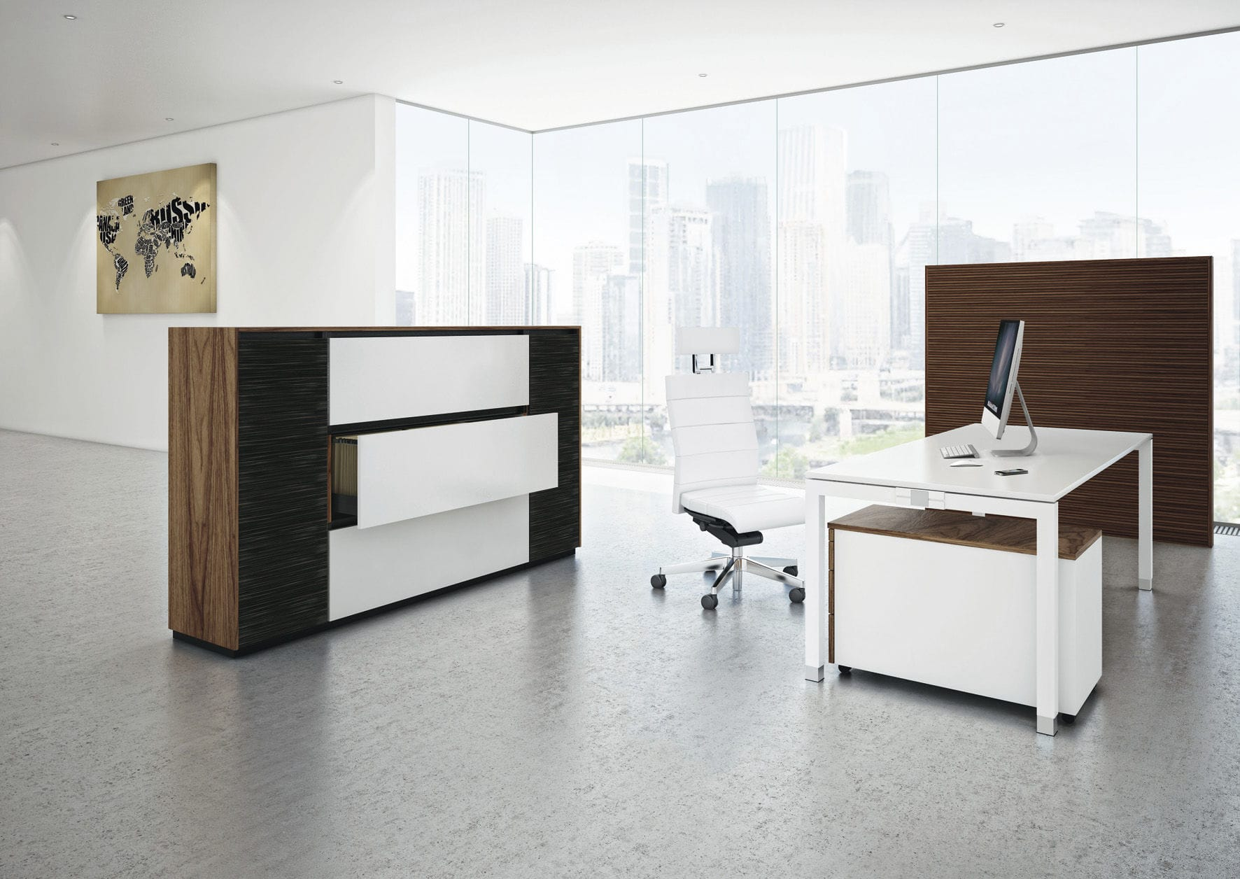 Modul-Bibliothek / modern / für Büro / Holz - INTAVIS - ASSMANN ...