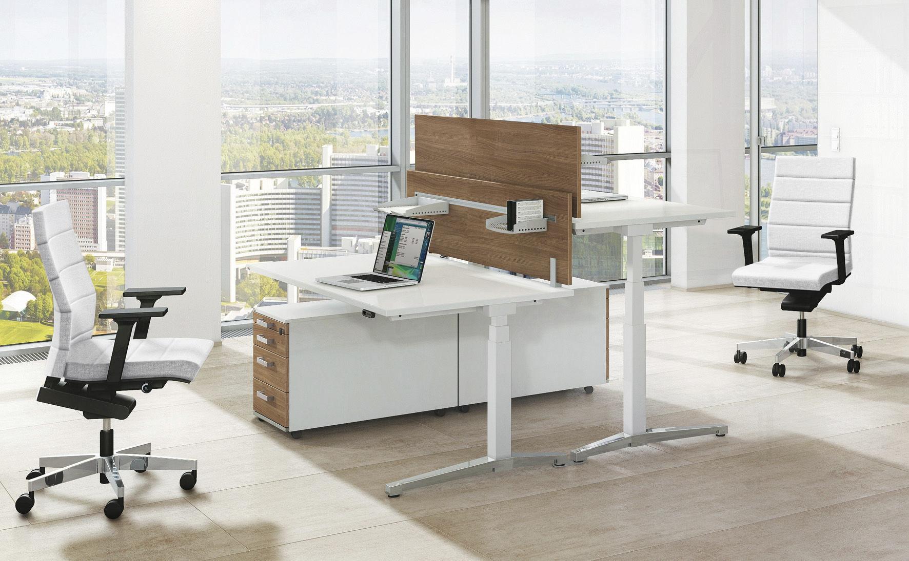 Büromöbel design holz  Bodenstehende Schreibtisch Trennwand / für Theken / Stoff / Holz ...