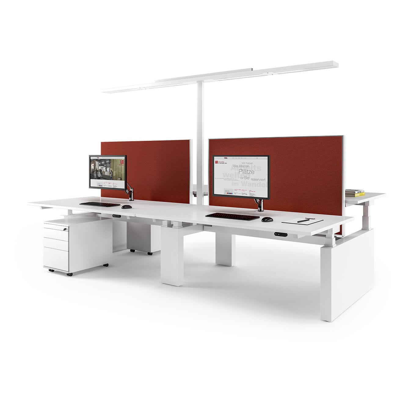 Schreibtisch Fur Open Space Holz Modern Objektmobel Canvaro