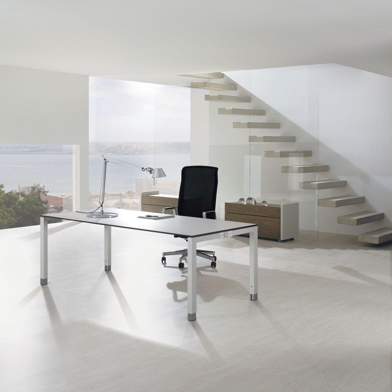 Holz-Schreibtisch / Aluminium / Melamin / modern - TRIASS - ASSMANN ...