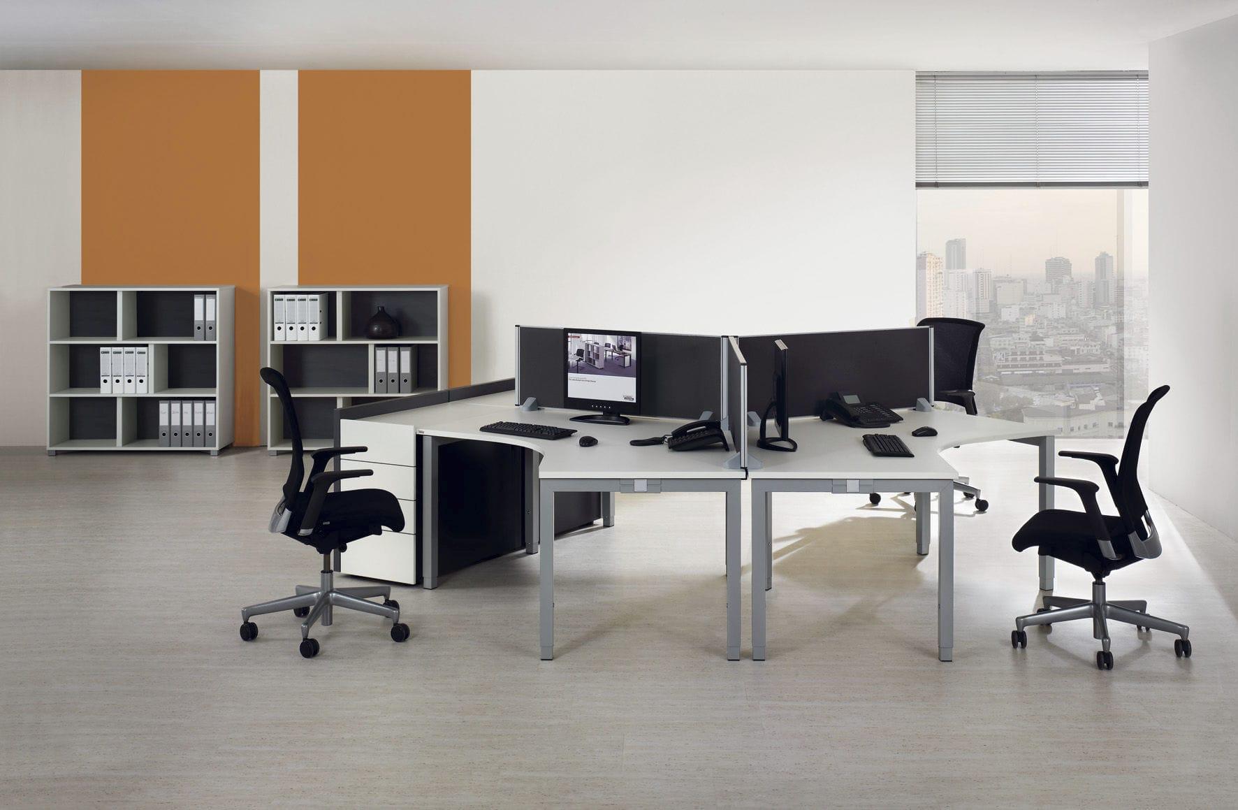 ... Holz Schreibtisch / Aus Aluminium / Melamin / Modern TRIASS ASSMANN  BÜROMÖBEL GMBH U0026 CO