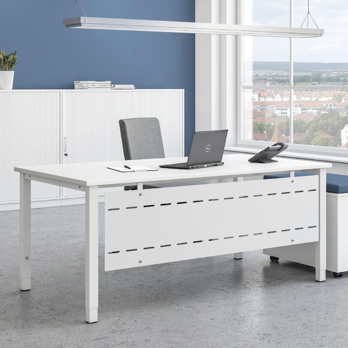 Metall-Schreibtisch / Melamin / modern / Objektmöbel - SYMPAS ...