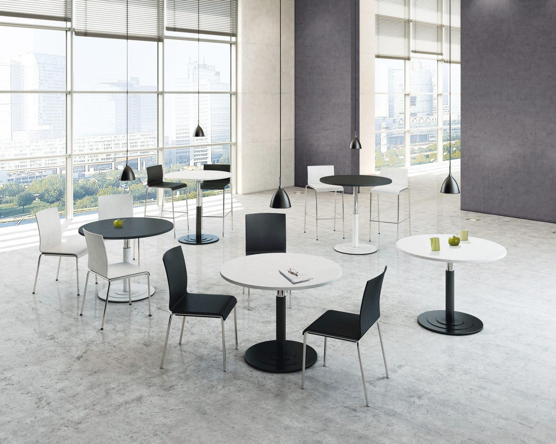 Moderne modulare büromöbel  Moderner Besprechungstisch / Holz / rund / modulierbar - PONTIS ...