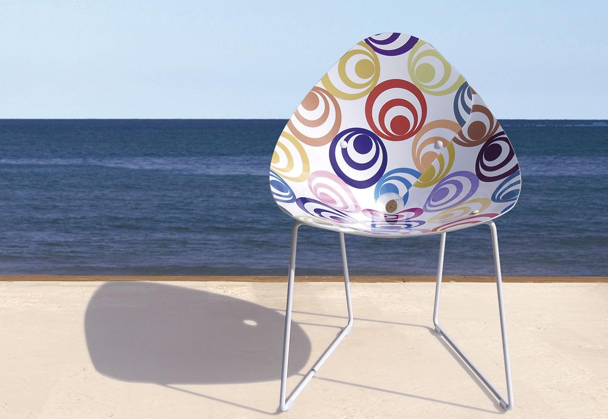 Gartenstuhl / originelles Design / Metall / Kunststoff - PLISPLAS by ...
