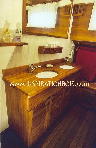 Doppelter Waschtischunterschrank / freistehend / Holz / modern - 8 ... | {Waschtischunterschrank freistehend 42}