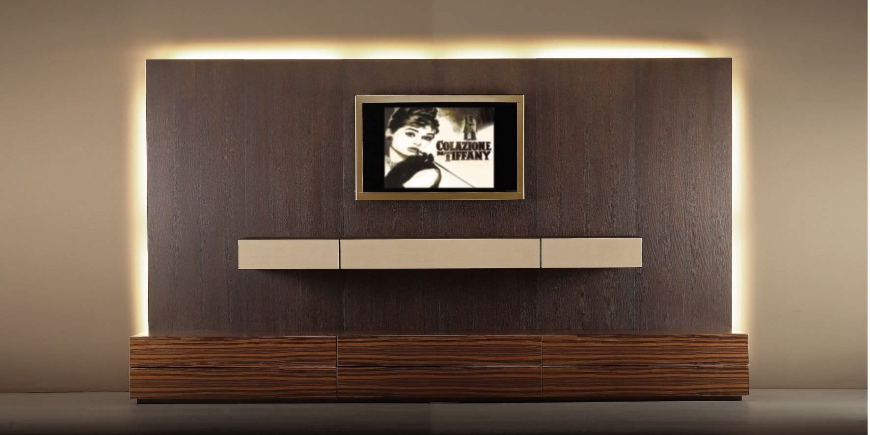 Wohnwand design holz  Moderne Wohnwand / Holz - valentini mobili s.r.l.