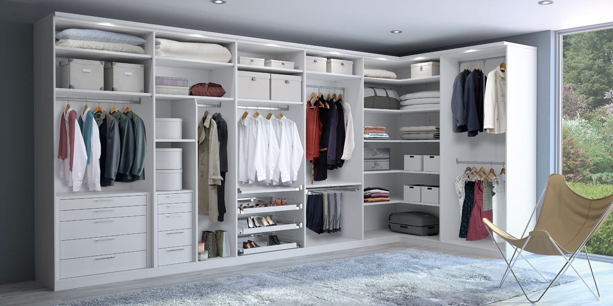Begehbarer Kleiderschrank Eck Modern Holz Cd Studionline