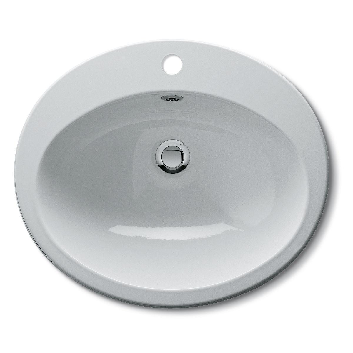 Einbauwaschbecken Oval Keramik Klassisch 06 160400 Bmp Srl