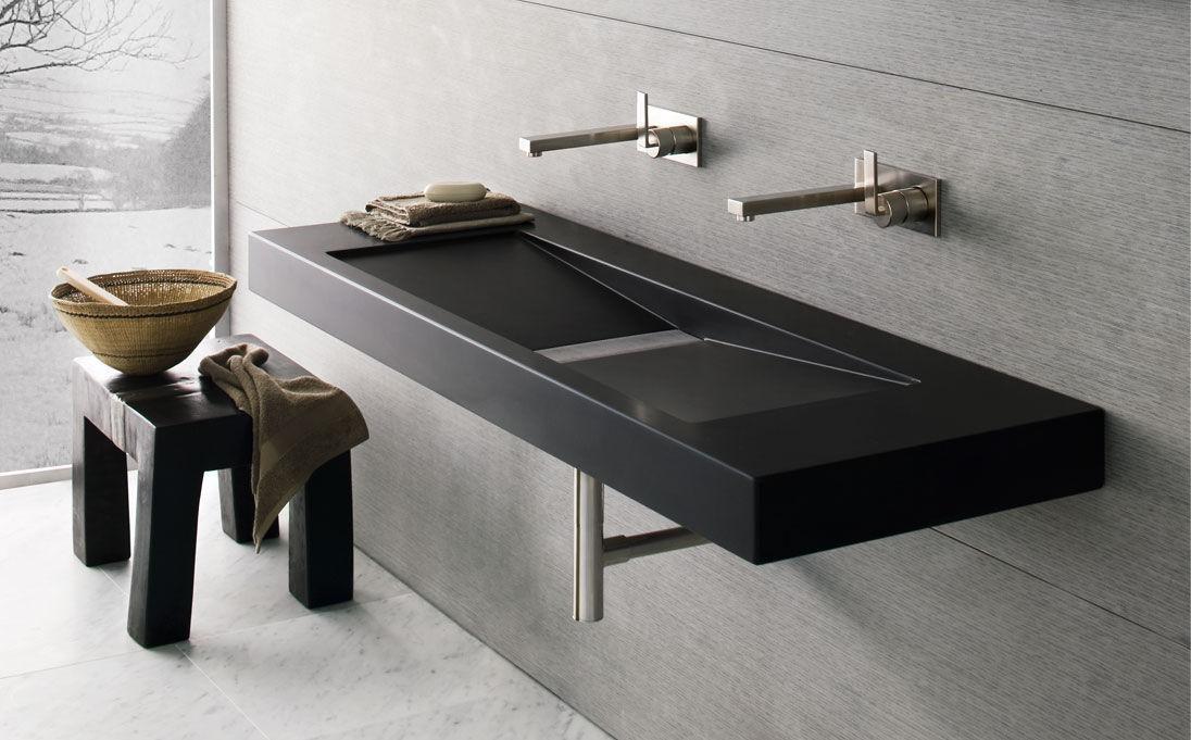 Neutra Waschbecken doppeltes waschbecken aufsatz wand rechteckig fluid series
