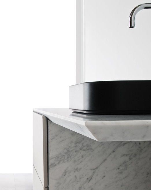 Neutra Waschbecken wand waschbecken rechteckig aus naturstein modern neos