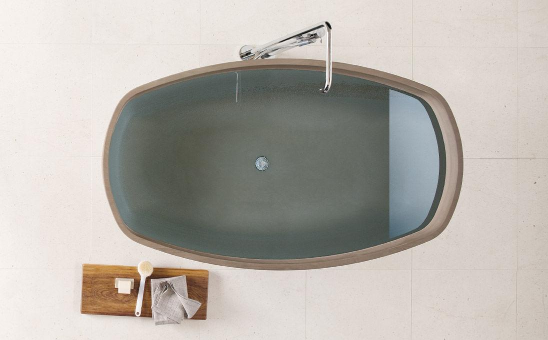 Neutra Waschbecken freistehende badewanne aus naturstein inkstone by steve leung