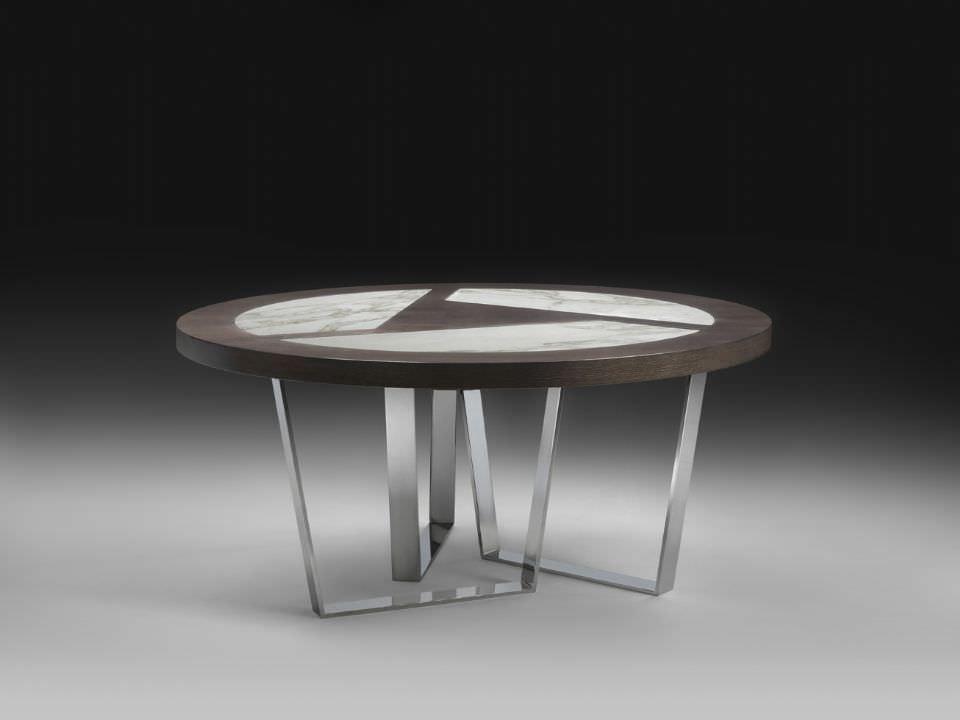 Tisch design rund  Moderner Tisch / aus Marmor / rund - CRICKET by Saviz Yaghmai ...