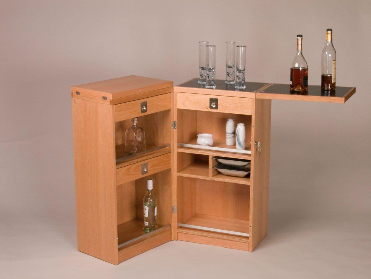 Moderner Barschrank / Holz - 7712 - dyrlund