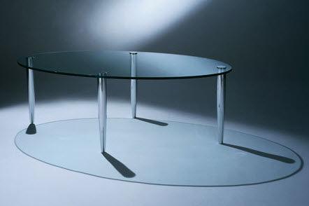 Beistelltisch / modern / Glas / für Außenbereich - ARC ALI OVAL by ...