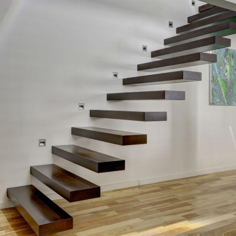 Gerade Treppe / Holzstufen / Ohne Setzstufe / Modern   PHANTOM 2610 3 By  Martin Battig