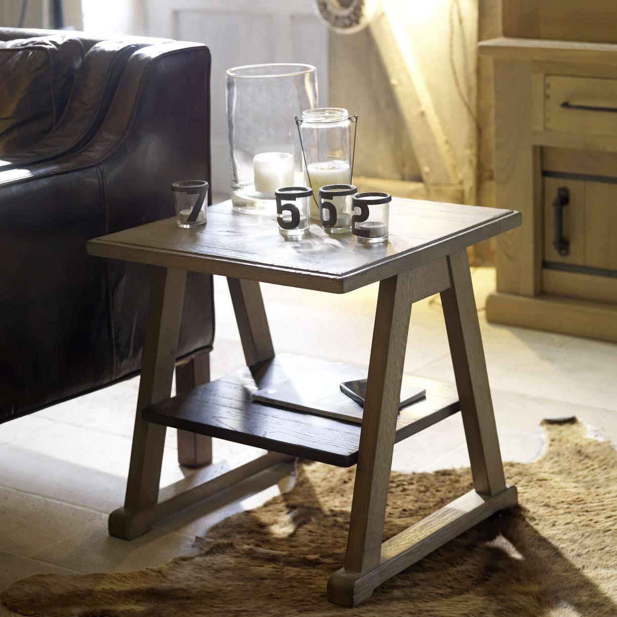 Klassischer Beistelltisch Holz Rechteckig Quadratisch