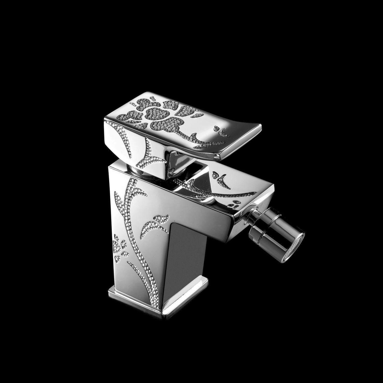 Einhebelmischer für Bidet / Metall / mit Swarovski® Kristall / für ...