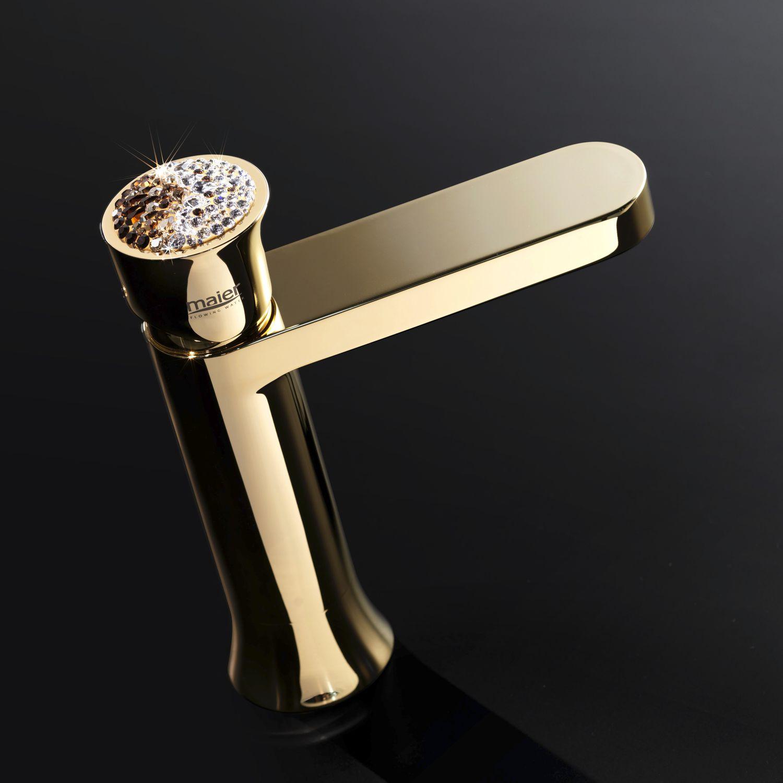 Einhebelmischer für Waschtisch / Metall / mit Swarovski® Kristall ...