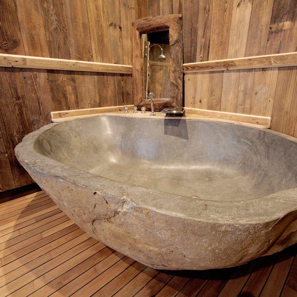 Freistehende Badewanne / aus Mineralguss - RIVER STONE - SDA Decoration