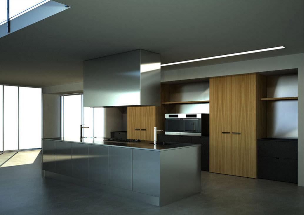 Moderne Küche / Holz / Edelstahl / aus Massivholz - +M/B - MVK ITALIA