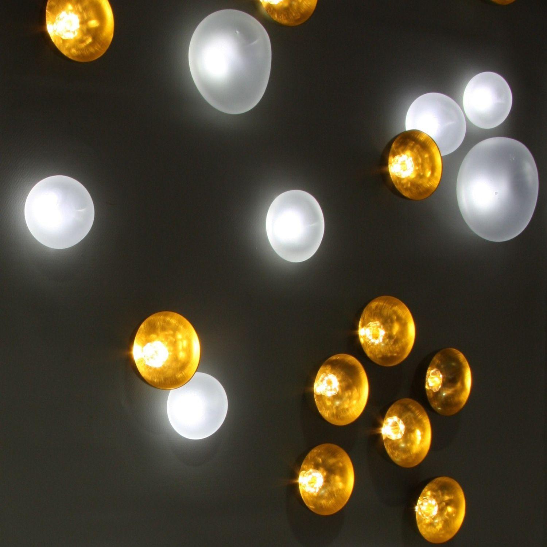Moderne Deckenleuchte / rund / Messing / LED NENUPHARS Semeur d\'étoiles