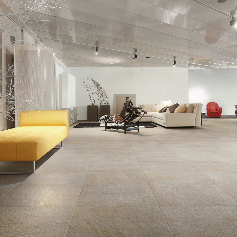 Wohnzimmer Fliesen Boden Feinsteinzeug Matt