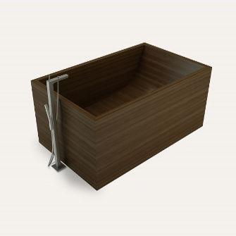 Freistehende Badewanne / Holz - PUARI-GAIA - Unique Wood Design | {Freistehende badewanne holz 72}