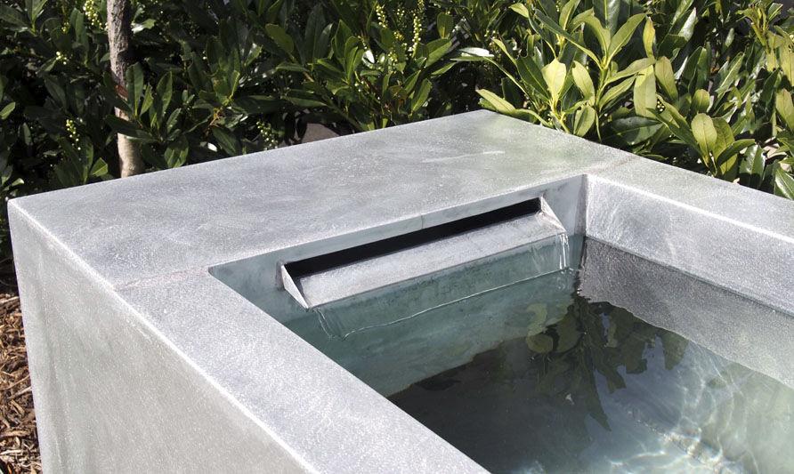 Garten-Springbrunnen / Zink - by Olivier Joannin - Tonton Zingueur