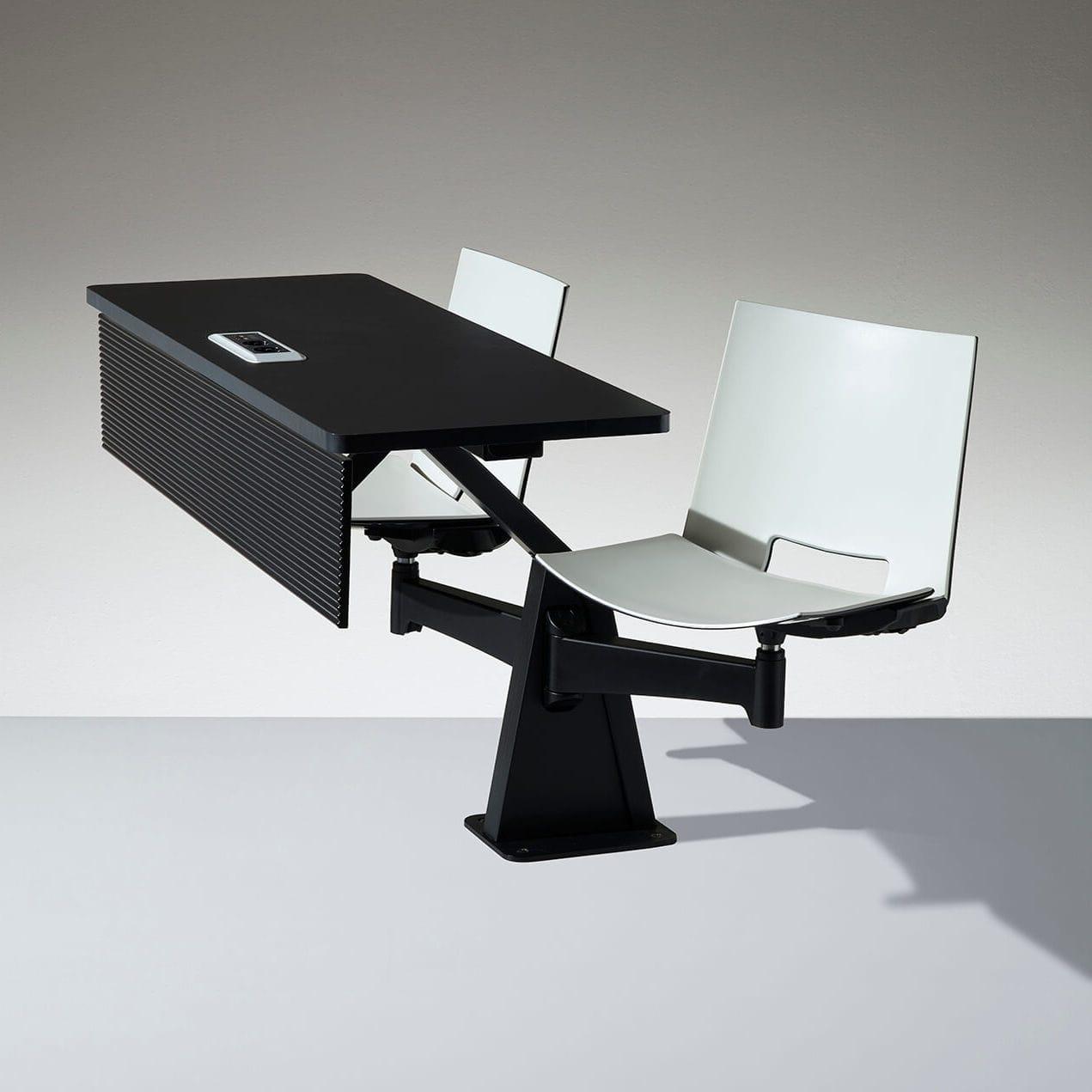 Tisch Modern stuhl mit integriertem tisch modern drehbar aluminium st12