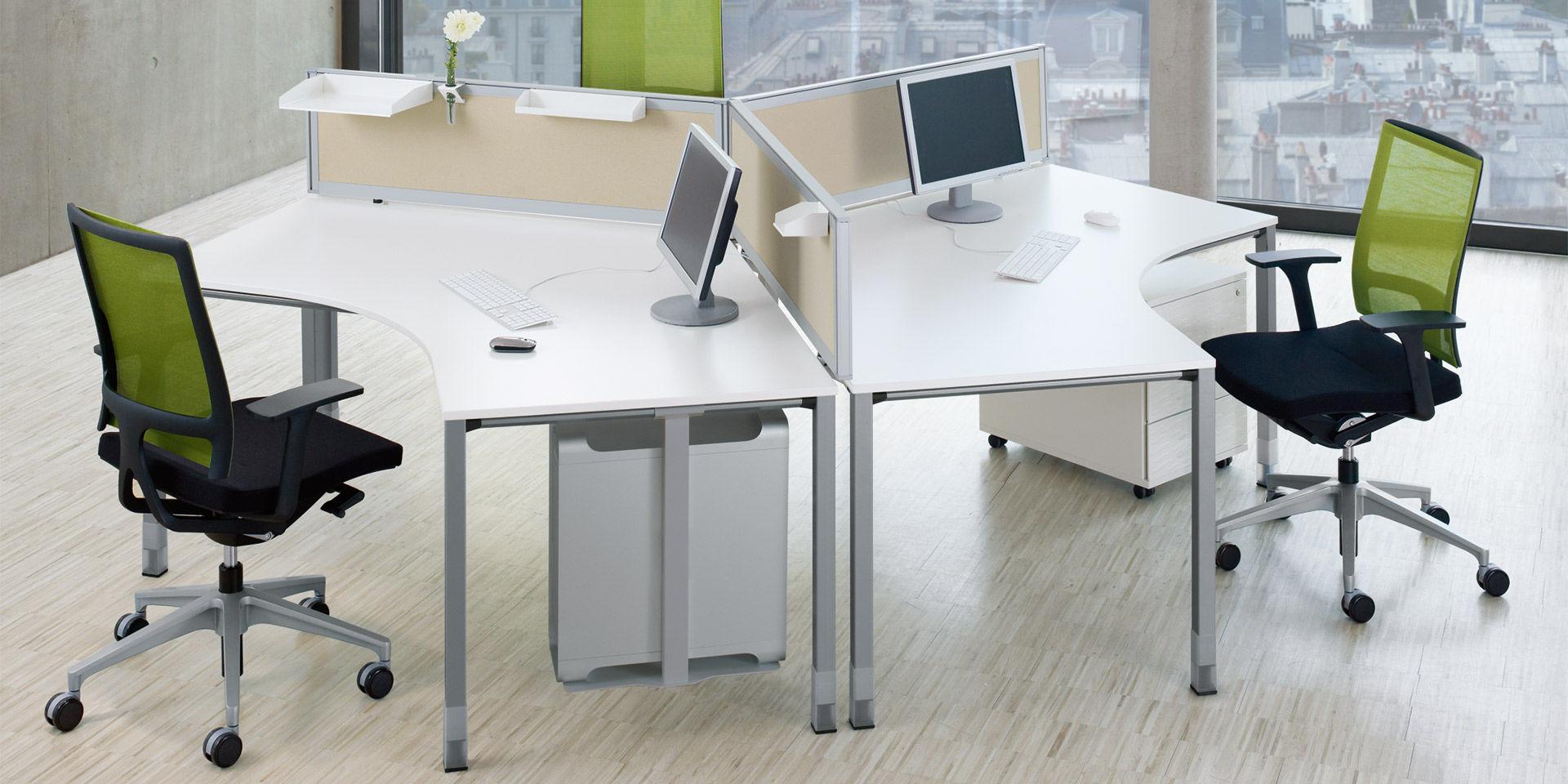 Schreibtisch für Open Space / Holzfurnier / modern / Objektmöbel ...