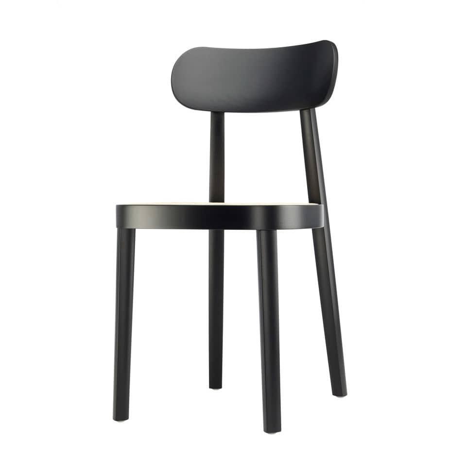 Moderner Stuhl / Aus Buche / Lackiertes Holz / Objektmöbel   118