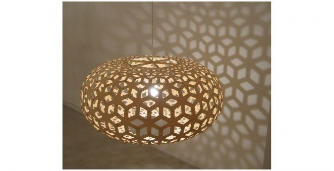 Hangelampe Modern Aus Bambus Aus Sperrholz Snowflake David