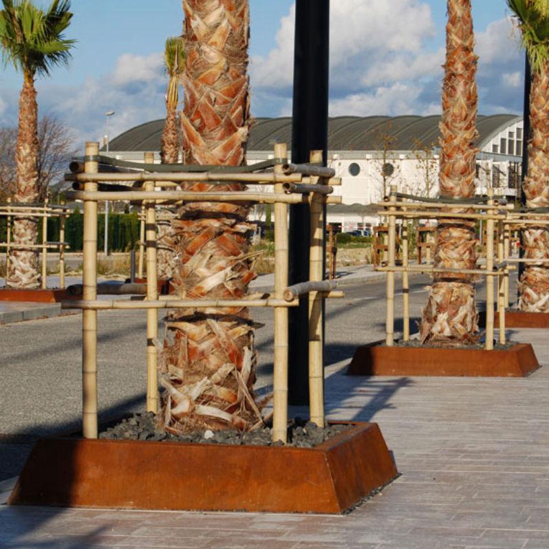 Baum Randeinfassung Cor Ten Stahl Quadratisch Solea I By