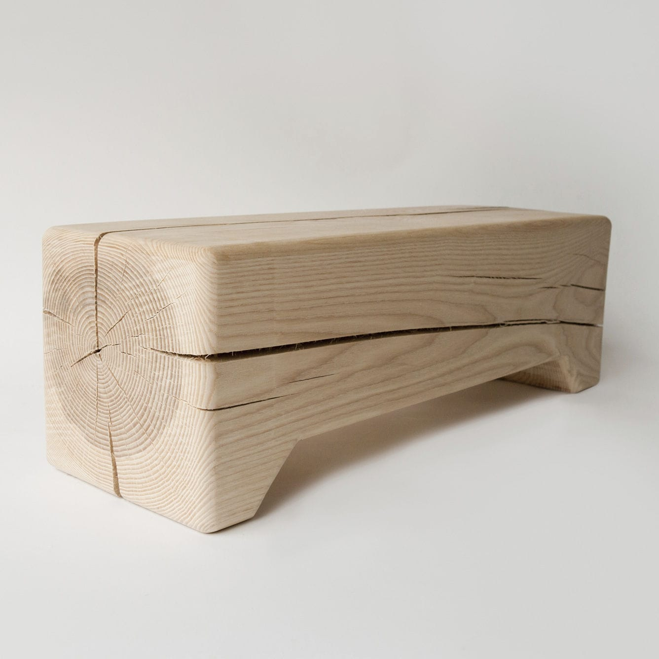 moderne bank / holz / für kinder - trunk - kalon studio