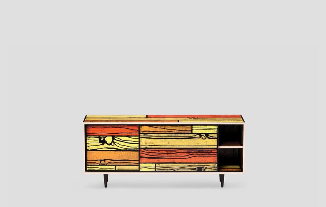 Kommode design holz  Kommode / originelles Design / Holz / beige - WRONGWOODS by ...