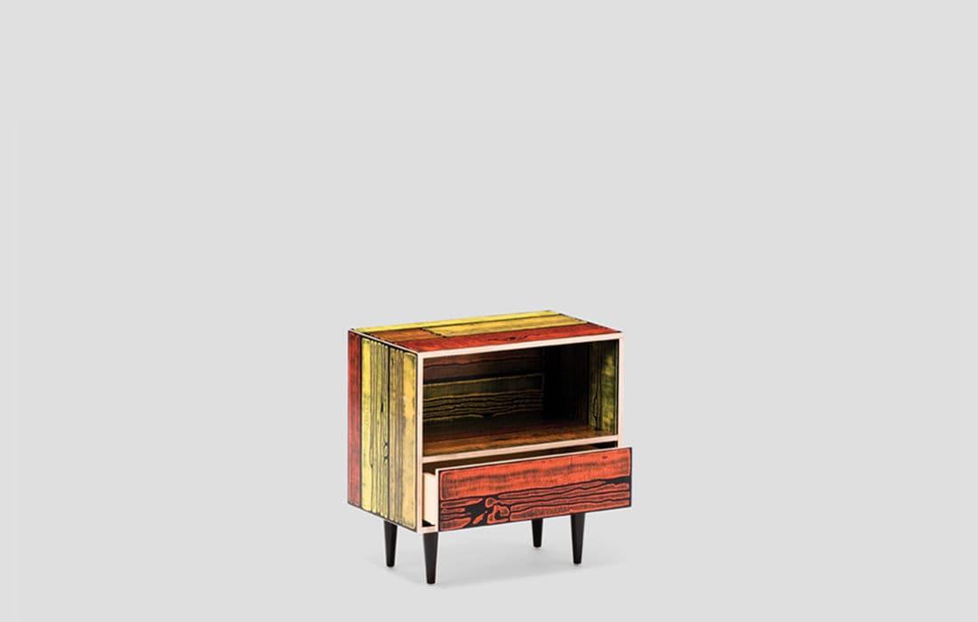 ... Moderner Nachttisch / Holz / Rechteckig ...
