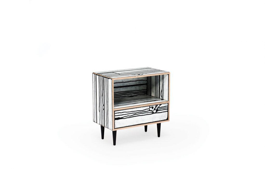 ... Moderner Nachttisch / Holz / Rechteckig